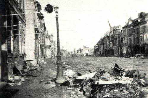 rue dévastée